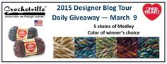March 9 Daily Giveaway | Sponsored by Red Heart Yarns | Giveaway open from 8:00 AM CST on March 9 through 8:00 AM CST on March 10 | #natcromo