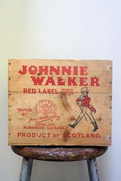 Johnnie Walker Red Label Scotch Whiskey by mysweetsavannah on Etsy, $43.00
