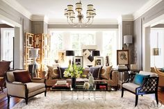 Neutrals Yes,  Bland Anything But! | Kansas City Living Room of David Jimenez from Architectual Digest
