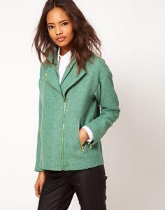 ASOS structured sleeve biker jacket