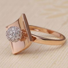 Real Diamond Ring jewellery for Women by jewelegance. ✔ Certified Hallmark Premium Gold Jewellery At Best Price Gold Jewelry Simple, Gold Rings Jewelry, Stylish Jewelry, Diamond Jewelry, Gold Ring Designs, Gold Jewellery Design, Indian Jewelry Earrings, Indian Gold Jewellery, Couple Ring Design