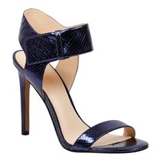 <p>Step out in style in this chic statement sandal with a slim stiletto heel and flattering straps.</p> <ul> <li>HeelHeight: 12cm</li> </ul>