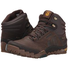 Merrell Annex Mid GORE-TEX (Clay) Men's Hiking Boots (8.235 RUB) ❤ liked on Polyvore featuring men's fashion, men's shoes, men's boots, tan, mens lace up shoes, mens tan boots, mens gore tex shoes, mens shoes and mens gore tex boots