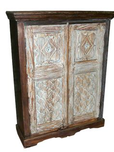 Antique Armoire Cabinet India Furniture From Gujrat  $649.00