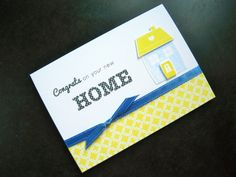 Housewarming Card Congratulations on your New by apaperaffaire, $3.75