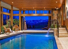 View of mountain indoor pool