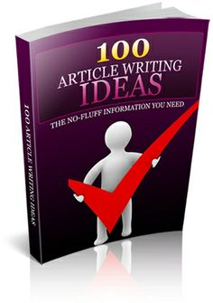 100 Article Writing Ideas!