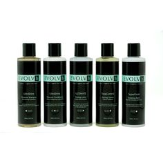 EVOLVh Natural, Organic, UltraShine Sulfate-Free Shampoo and other hair care products. THE SCENT IS TO DIE FOR!