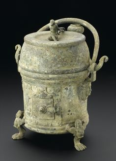 hommedia.ashx (1107×1536) Science Museum, London. The upper part of the bronze apparatus was used to cook food or keep food warm in dining rooms. The lid of this top part shows a man on his knees with his arms chained. The separate lower part is used as a charcoal burner. Object number: E2008.87.1