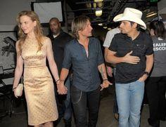 Nicole Kidman, Brad Paisley, and Keith Urban