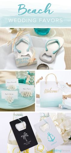 Your guests will never forget your special day with these great beach and nautical-themed wedding favors.
