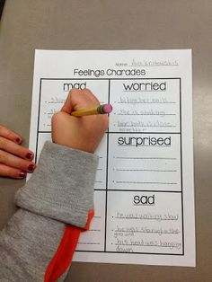 How to teach your students to SHOW a feeling in their writing instead of just TELLING it!