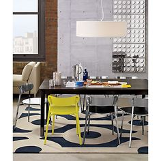 cute yellow and stainless chairs