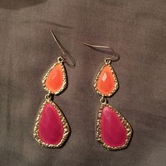 Orange and pink earrings Fun spring earrings! Jewelry Earrings