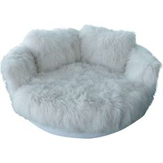 Tibetan Longhaired Sheepskin Round Loveseat ($9,800) ❤ liked on Polyvore featuring home, furniture, sofas, decor, fillers, interior, manhattan furniture, aspen furniture, aspen home furniture and white love seat