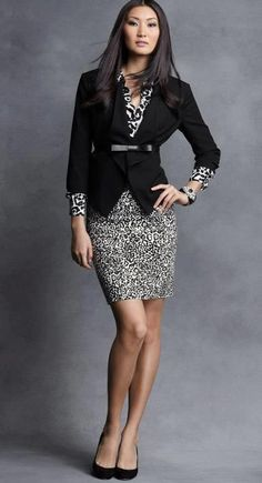 Check out this inspiration outfit for our Leopard Pencil Skirt