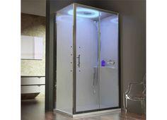 Novellini Eon Dusjkabinett 120 x 90 cm Hydro hvit soft, venstre med tak - Bad. Spas, Douche Design, Shower Cubicles, Modern Door, Shower Enclosure, Sliding Doors, My Room, Locker Storage, Modern Design