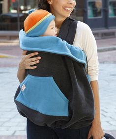 Onyx & Shining Sea Fleece Baby Carrier Cover