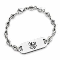 "This edgy East/West style bracelet features our ""raised carbon"" logo application on a solid stainless steel I.D. plate. This unique bracelet can be matched with our Easy/West necklace. Show your spirit in style!Metal: Solid Stainless SteelBracelet Length: 8""Officially Licensed: Yes""the indicia featured on this product is a protected trademark owned by the respective college or university"""