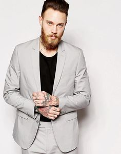 Asos Slim Fit Suit Jacket In Poplin
