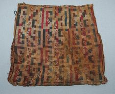 Coca bag;textile; Chimu culture, late horizon; Peru. British Museum, Online…