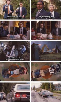 Parallel Dean & Sam / Bobby & Rufus Supernatural Season 11x16 Safe House