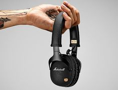 Marshall Cuts the Cord with the Release of the Monitor Bluetooth Headphone.  With the addition of Bluetooth aptX technology, Marshall adds another upgrade to their top-of-the-line Monitor over-ear headphone. The new wireless Marshall Monitor Bluetooth features black aluminum construction and a brass mini-joystick for easy, intuitive playback control. Battery life clocks in at 30 hours and they recharge via micro USB.