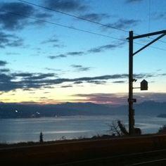 Blick vom Bahnhof Oberrieden. 23.2.2012, 6:46 Uhr.