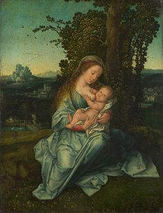 The Virgin And Child In A Landscape Style of Bernard van Orley