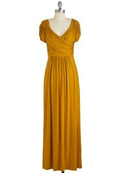 Ocean of Elegance Dress in Goldenrod, @ModCloth