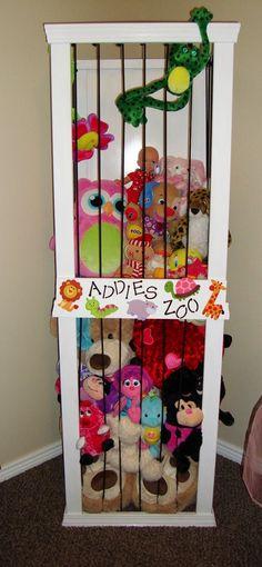 Cute stuffed animal storage