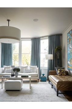 Living room ideas Leather Chaise Longue & Blue Palette in Neutral Modern Living Room – An open-plan layout full of intriguing design details in this Victorian house at Oxford – living rooms on HOUSE by House & Garden. Home Design, Home Building Design, Interior Design, Design Ideas, Modern Victorian Homes, Victorian Living Room, Victorian House, Victorian Townhouse, Living Room Grey