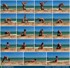 "#Yoga Poses Around the Wolrd: ""A beautiful beach day for yoga :D"""