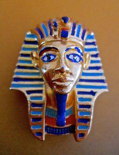 Egyptian Revival King Tut Brooch Pin SPHINX by RenaissanceFair
