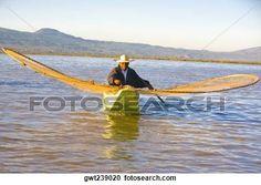 pescador, con, mariposa, red de pesca, en, un, lago, Janitzio, isla, lago, patzcuaro, patzcuaro, estado de michoacan, méxico Ver Imagen agrandada