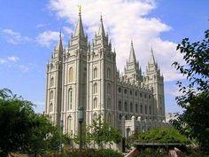 Templo de la Iglesia Mormona en Salt Lake City, Utah