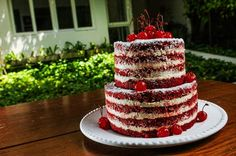 naked red velvet birthday cake | depois dos lace cakes bolos de renda e naked…