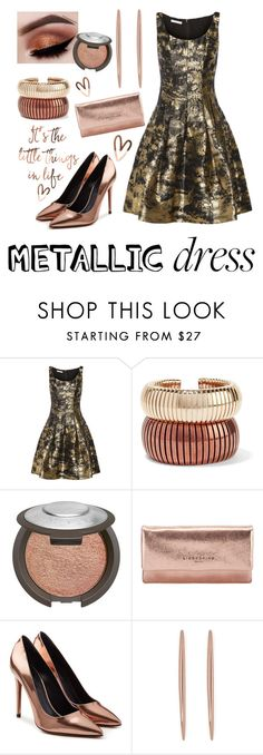 """""""The little things in life"""" by diane-randle ❤ liked on Polyvore featuring Oscar de la Renta, Rosantica, Becca, Liebeskind, Alexander Wang, Warehouse and metallicdress"""
