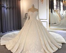 Women's Shoes | Etsy Princess Wedding Dresses, Elegant Wedding Dress, Dream Wedding Dresses, Bridal Dresses, Ballgown Wedding Dress, Princess Ball Gowns, Lace Wedding, Winter Wedding Dresses, Silver Ballgown