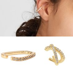 No piercing required! Ear cuffs are becoming one of our favorite accessories! #nopiercing #earcuff #goldearings #smallearrings #smallbusiness #supportsmallbusiness #shoplocal Small Earrings, Gold Earrings, Ear Cuffs, Bra Straps, Piercing, Accessories, Jewelry, Fashion, Small Stud Earrings