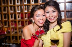 Sisters | Red and Yellow Dresses | Event Photography | Chinese Filipino Engagement Ceremony | Copyright 2015 Aliza Schlabach Photography | ByAliza.com