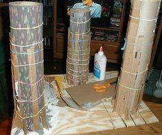 MoEwokvillage1- papier mache tree