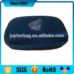 black nylon cover eva makeup cosmetic case with metal logo