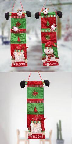 Gentle Ourwarm 2pcs Wooden Christmas Tree Decorations Ornament Sled Santa Claus Snowman Pendant Christmas Decoration For Home Good Taste Diamond