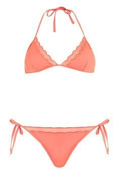 9e68fe8aaf84f Scallop Mesh Bikini Set - Swimwear   Beachwear - Clothing