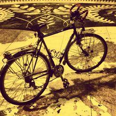 My Koga Miyata traveller...aka Dulcinea. #cataplanacyclist Lisbon-Denmark 2015
