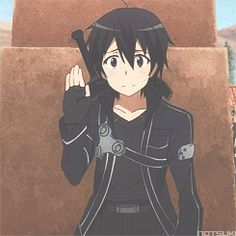 I don't think I ever remember seeing Kirito make this face... It's so cute!