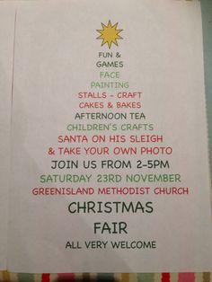 Christmas fair poster, based on an idea of one I had found on Pinterest!