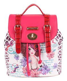 Look at this #zulilyfind! Sunny White Backpack by Nicole Lee #zulilyfinds