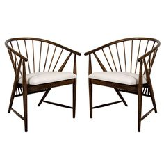 "A Mid Century Pair of Sonna Rosen ""Sun Feathers"" Armchairs 